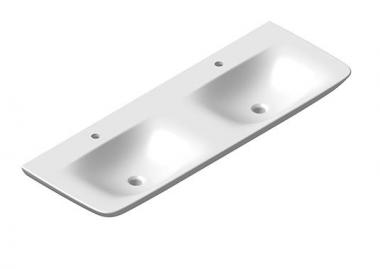 badshop veith doppelwaschtisch white 140x49cm weiss vigour vigour sanibel. Black Bedroom Furniture Sets. Home Design Ideas