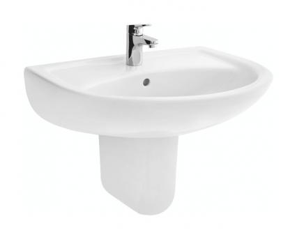 sanibel 1001-Waschtisch A18 650x485mm inkl. antibakterieller Glasur weiß