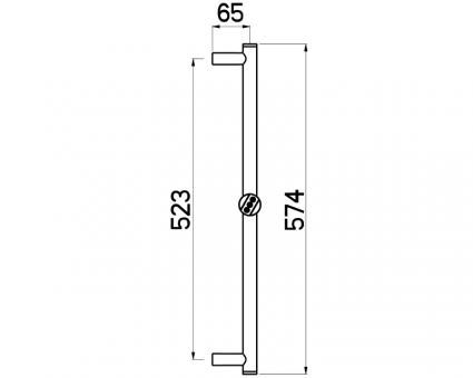 Brausestange Techno Twist 60cm D24mm verchromt Nikles B Ware
