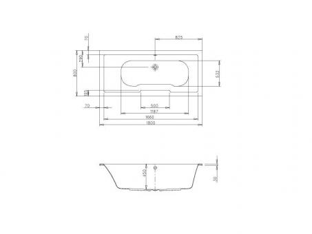 badshop veith k rperformwanne acryl cosima 180x80cm berlauf links weiss vig. Black Bedroom Furniture Sets. Home Design Ideas
