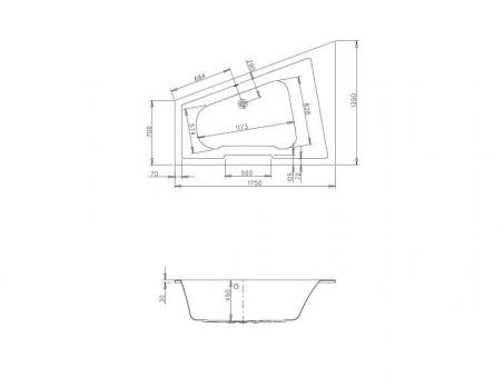 badshop veith trapezwanne acryl cosima 175x135cm berlauf rechts weiss vig. Black Bedroom Furniture Sets. Home Design Ideas