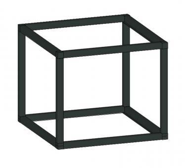Würfel clivia HxTxB 300x350x350mm schwarz matt VIGOUR