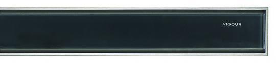 Designrost individ.3.0 Glas Anthrazit 1200mm für Duschrinne VIGOUR
