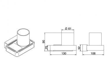 badshop veith glashalter akua verchromt m becher u utensilienablage vigour vigour sanibel. Black Bedroom Furniture Sets. Home Design Ideas
