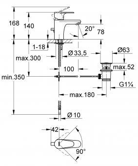 badshop veith einhand waschtischbatterie clivia neu m ablaufgarnitur verchromt vigour vigour. Black Bedroom Furniture Sets. Home Design Ideas