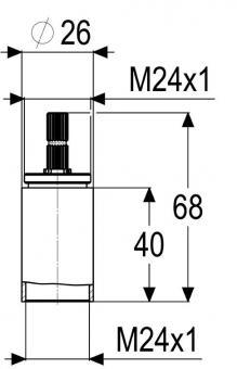 badshop veith verl ngerung f up ventil derby 41mm lang verchromt vigour vigour sanibel. Black Bedroom Furniture Sets. Home Design Ideas