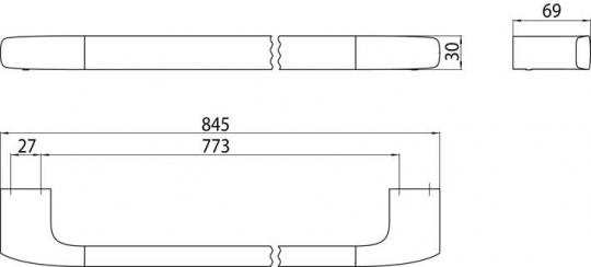 badshop veith badetuchhalter white 80cm verchromt vigour vigour sanibel. Black Bedroom Furniture Sets. Home Design Ideas