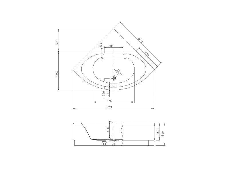 badshop veith vario eckwanne acryl cosima 150cm weiss m sch rze und gestell vigour vigour. Black Bedroom Furniture Sets. Home Design Ideas