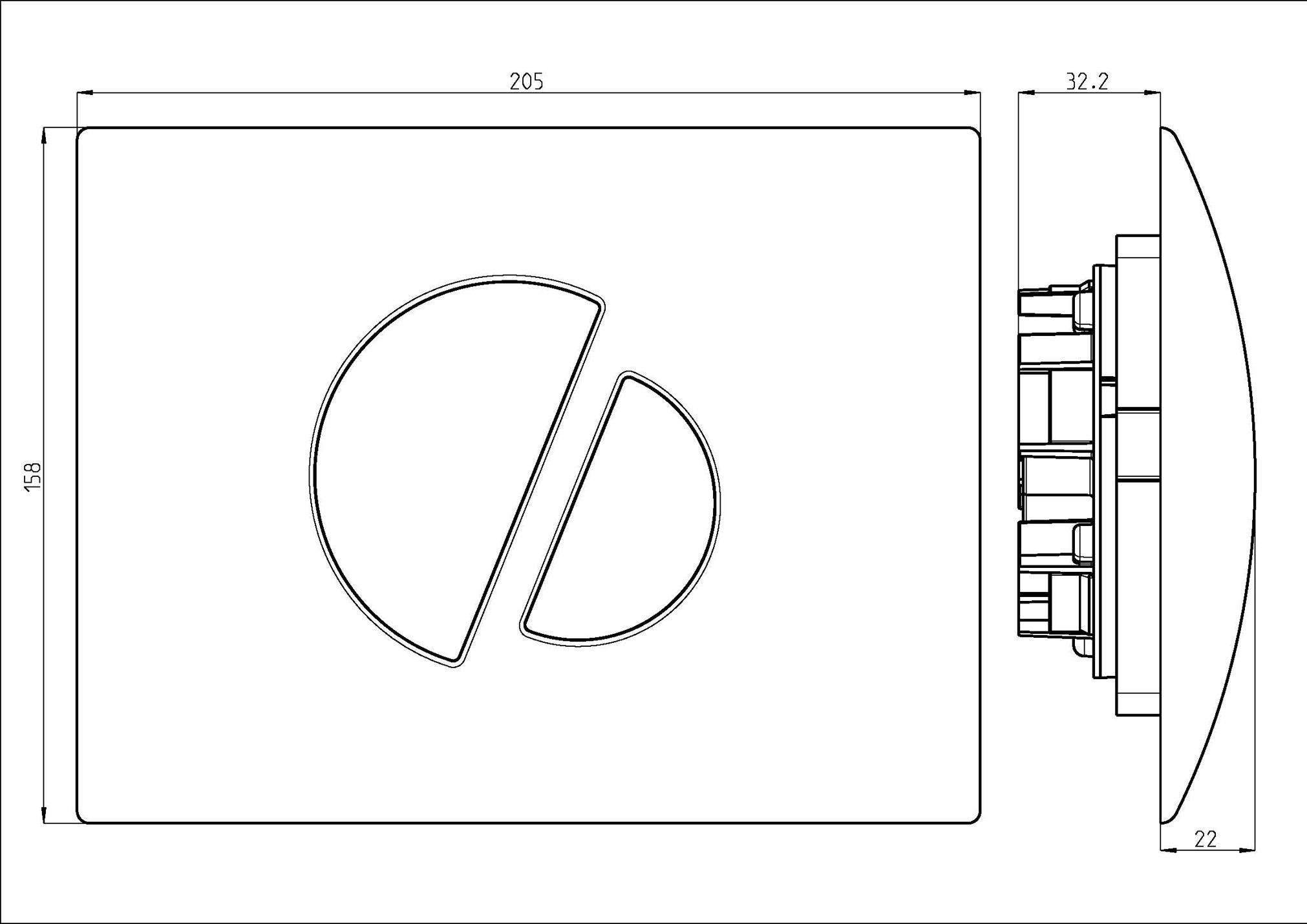 badshop veith bet tigungsplatte go verchromt f 2 mengen sp ltechnik vigour sanibel. Black Bedroom Furniture Sets. Home Design Ideas