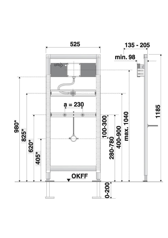 badshop veith urinal element vis f trockenbau universal bh 1185mm vigour sanibel. Black Bedroom Furniture Sets. Home Design Ideas