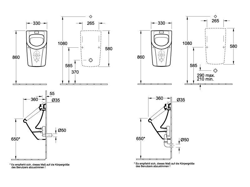 badshop veith urinal clivia weiss zulauf von oben inkl befestigung vigour vigour sanibel. Black Bedroom Furniture Sets. Home Design Ideas