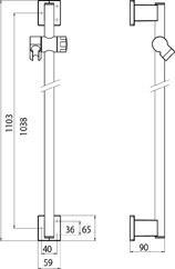 badshop veith brausestange derby style care 1103mm verchromt ohne abs ummantelung vigour. Black Bedroom Furniture Sets. Home Design Ideas