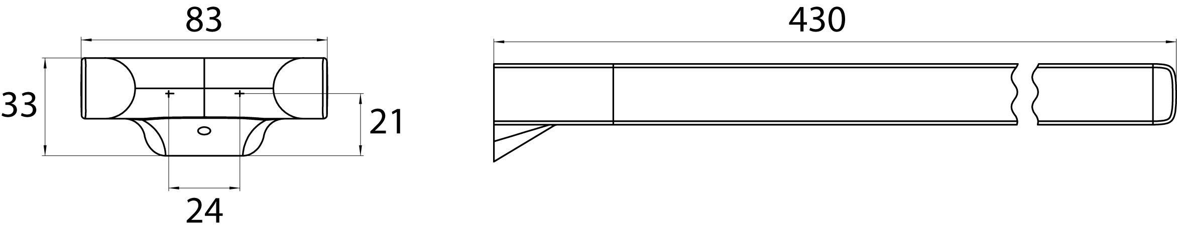 badshop veith adria handtuchhalter 2 armig 460mm vigour sanibel. Black Bedroom Furniture Sets. Home Design Ideas